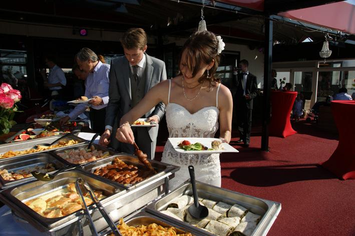 trouwfeest, diner, buffet, strandtent, hoek van holland