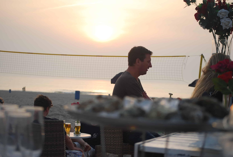 vergaderen, strand, hoek-van-holland