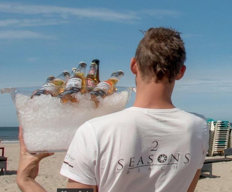vakantiebaan, strandtent, bediening, hoek-van-holland