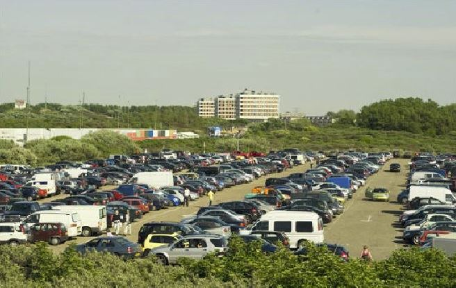 parkeren, hoek-van-holland, strand