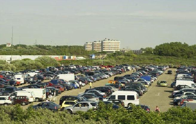 parkeren, strandopening, hoek-van-holland